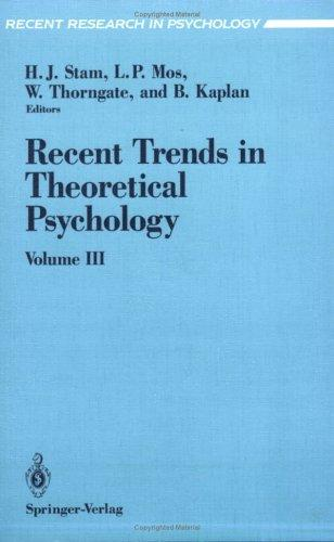 Download Recent trends in theoretical psychology.