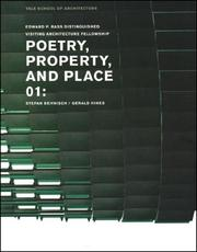 Poetry, Property, And Place: Stefan Behnisch, Gerald Hines PDF Download