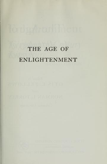The age of enlightenment; an anthology of eighteenth-century French literature. by Otis Fellows