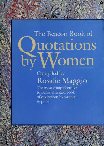 Cover of: Beacon Book of Quotations | Rosalie Maggio