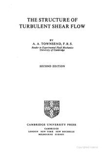 Cover of: The structure of turbulent shear flow by A. A. Townsend