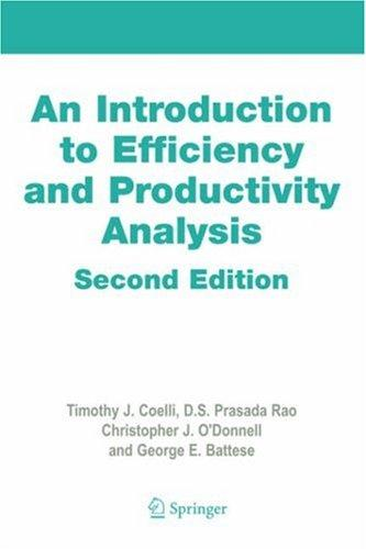 An introduction to efficiency and productivity analysis by