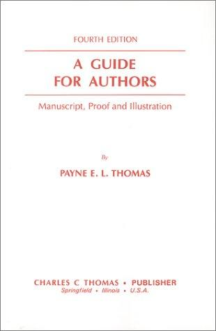 A guide for authors by Payne E. L. Thomas